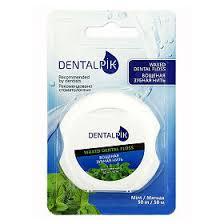 <b>Зубная нить</b> мятная <b>Dentalpik Floss</b> Mint Waxed вощеная, 1 шт ...