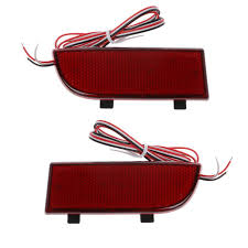 <b>2pcs LED Shocks Rear</b> Bumper Reflector Spotlight Fog Tail Brake ...