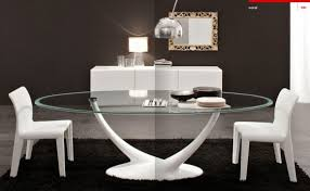 Small Picture Luxury Glass Top Dining Table Design Italian Style Dining Decorate