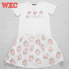 <b>Kawaii</b> Strawberry T <b>Shirt</b> School Clothes Uniform <b>Japanese</b> Lolita ...