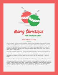 holiday templates examples lucidpress holiday christmas newsletter template