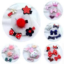 <b>5Pcs</b>/Lot Cute Bowknot Baby <b>Hair Clips Flower</b> Kids <b>Hairpins</b> ...