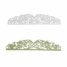 2019 Cutting Dies Lace Flower Border Decoration For Card Stencil ...