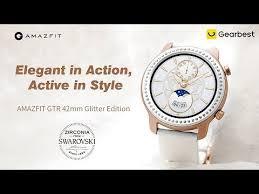 <b>AMAZFIT GTR</b> 42mm Smart Watch <b>Glitter Edition</b> Zirconia from ...