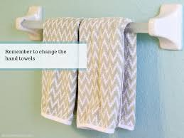 guest bathroom towels: how to speed clean your guest bathroom hostess tips