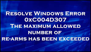 Fix error 0xC004D307 the maximum allowed number of re-arms has ...