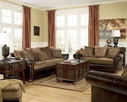 cream couch living room ideas: living room fantastic chocolate brown furniture cream fabric windows curtain tan wooden laminate flooring leather