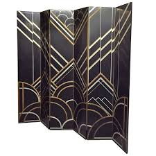 1930s art deco six panel folding screen in the style of donald deskey from art deco box office loew