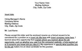 sample cover letter how does a cover letter look like
