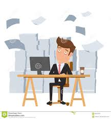 tired businessman sitting at office desk and pile of paper work tired businessman sitting at office desk and pile of paper work tired employee and want