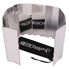 REDCAMP <b>Folding</b> Outdoor Stove Windscreen, <b>8</b>/9/10/12 <b>Plates</b>