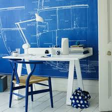 fun home office decorating ideas blue office room design