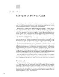 chapter examples of business cases developing a business page 74