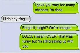 Image result for break up texts