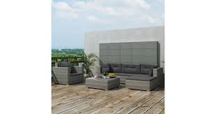 6 Piece Garden Lounge Set with Cushions Poly Rattan ... - Dick Smith