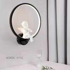 <b>Creative Nordic</b> angel led wall <b>lamp</b> wall <b>lamp</b> sitting room ...