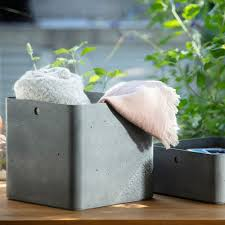 <b>Storage box</b> square 18 L <b>Concrete</b> light grey CURVER