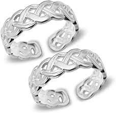 Silver - Toe Rings / Women: Jewellery - Amazon.in