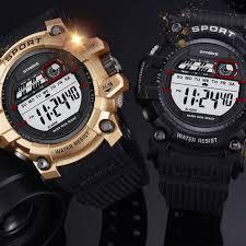 SYNOKE 9606 <b>Fashion Outdoor Sports</b> Watch Alarm Clock ...