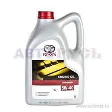 <b>Масло моторное Toyota Engine oil</b> 5W40 синтетическое 5 л ...