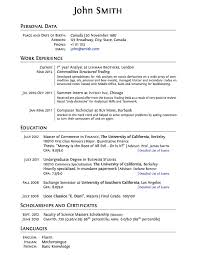 plasmati graduate cv resume template for students