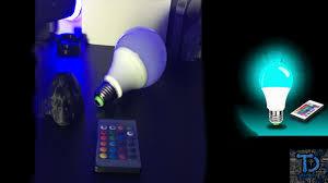 Sdida LED RGB Bulb E27 <b>15W</b> Remote Control LED <b>Light Bulb</b> ...