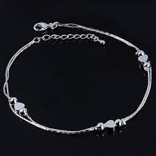 Women <b>New Ankle Bracelet 925</b> Sterling <b>Silver Anklet</b> Foot Jewelry ...