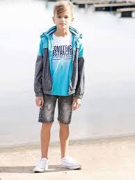 Ветровка для мальчика Luminoso, цвет: серый, голубой. 817042 ...