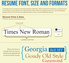 Appropriate Font For Resume  what font is best for a resume resume