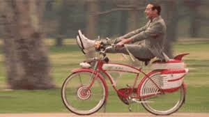 Image result for pee wee's big adventure gif