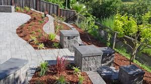 stone patio installation: interlocking paver stone patio and walkway installation