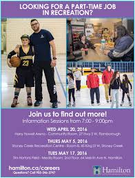 summer part time recreation jobs the city of hamilton fall recruitment info sessions letter