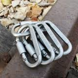 <b>5Pcs</b> Aluminum Snap <b>Hook Carabiner</b> EDC Tool D-Ring Key Chain ...