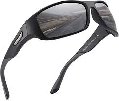 PUKCLAR <b>Polarized Sports Sunglasses</b> for Men Women Running ...