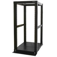 StarTech 25U 4 Post <b>Open</b> Frame <b>Server Rack</b> - 4POSTRACK25 ...