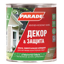 <b>Эмаль PARADE</b> А1 Декор & Защита база С мат. 0,75л: продажа ...