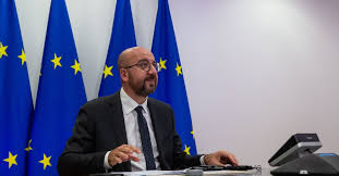 In global power contest, Charles Michel says <b>EU</b> takes <b>US</b> over China