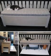 22 upholstered bench cat litter box furniture diy