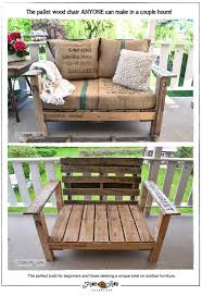 pallet wood chair build pallet furniture