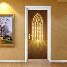 77*200cm <b>Delicate</b> DesignThe Golden Window Under the Sun Oil ...