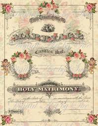 marriage certificate instant altered antique marriage certificate image collage sheet printable gift tags scrapbook