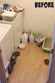 laundry room cat room before cat litter box furniture diy