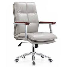 modern mid back executive white leather swivel ergonomic office chairs black and white office furniture