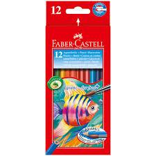 <b>Карандаши акварельные Faber-Castell</b>, <b>12цв</b>+кисть, картон ...