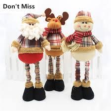 47cm Santa Claus <b>Christmas</b> Decorations Natal <b>Doll</b> Table Decor ...