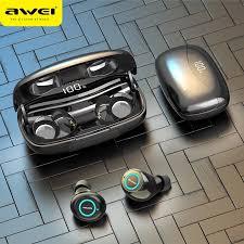 <b>AWEI T19 TWS 5.0</b> 2500mAh LED Display Super Bass Stereo ...