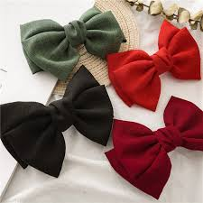 <b>Vintage Linen Barrettes 2</b> Level Big Large Bow Hair Clip Korean ...