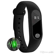 Bingo Himtronics Plastic <b>M2 Waterproof</b> Smart <b>Fitness Band</b> (Black ...
