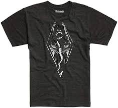 The Elder Scrolls V: <b>Skyrim</b> Logo <b>T</b>-<b>Shirt</b>: Amazon.ca: Clothing ...