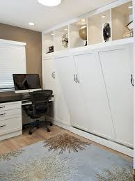 side tilt wall bed custom cabinetry in home office traditional home office bed in office